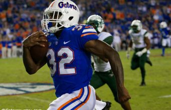 University of Florida freshman running back Adarius Lemons rushes for a 62-yard touchdown that was called back due to holding- Florida Gators football- 1280x853