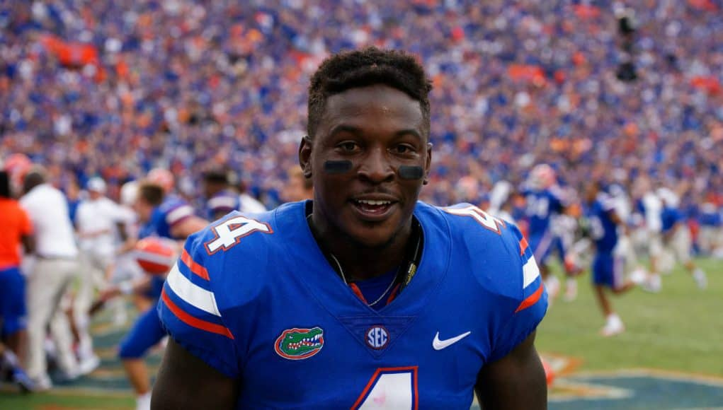 University of Florida receiver Brandon Powell celebrating the Florida Gators win over the Tennessee Volunteers- Florida Gators football- 1280x854