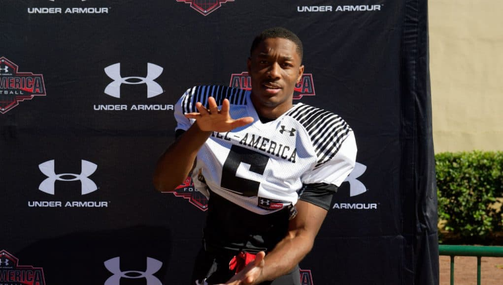 Florida Gators WR target Jacob Copeland at Under Armour practice-1280x853