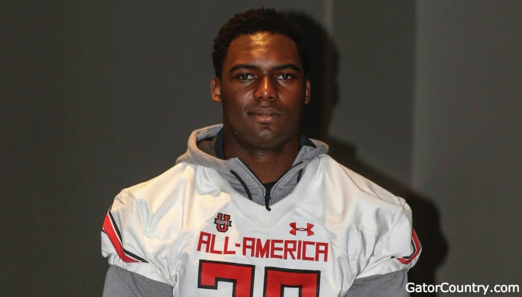 Florida Gators offensive line target Nick Petit-Frere at Under Armour check-in-1280x720