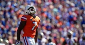 University of Florida defensive back Duke Dawson reacts to a pass breakup against Florida State- Florida Gators football- 1280x853