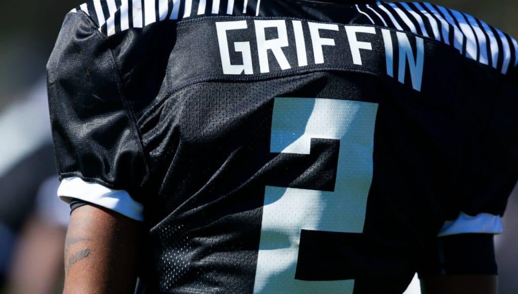 Florida Gators DB target Olaijah Griffin at Under Armour practice- 1280x853