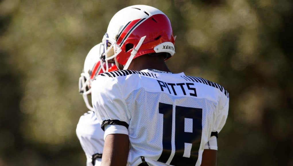 Florida Gators tight end signee Kyle Pitts at Under Armour practice- 1280x852