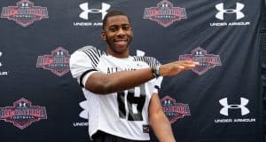 Florida Gators tight end signee Kyle Pitts does the Gator Chomp-1280x853