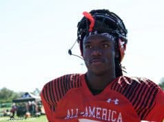 University of Florida quarterback Emory Jones walks off of the practice field after the third day of practices at the Under Armour All-American Game- Florida Gators football- 1280x853