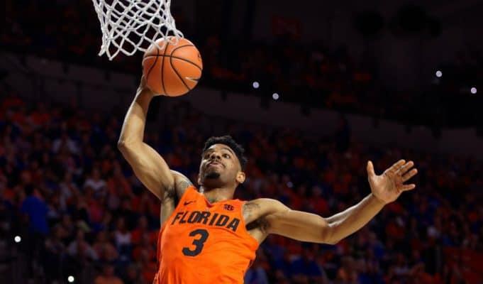 Florida Gators basketball player Jalen Hudson dunks against Kentucky- 1280x853