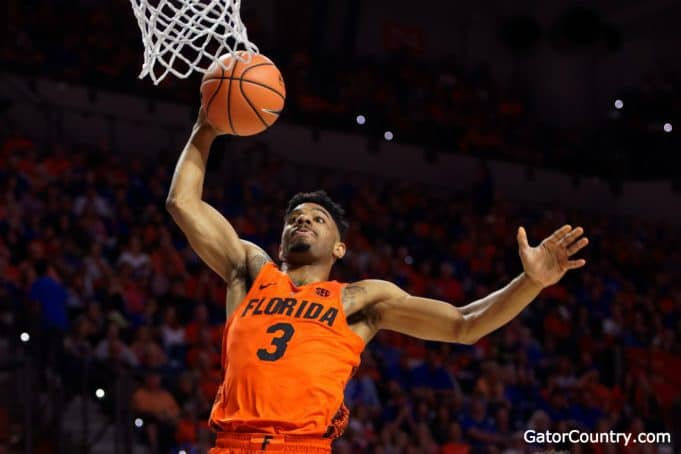 Florida Gators basketball player Jalen Hudson dunks against Kentucky- 1280x853
