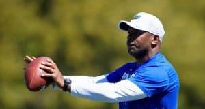 Florida Gators defensive backs coach Charlton Warren at spring practice 2018-1280x853