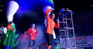 Florida Gators gymnastics team being introduced in 2018- 1280x853