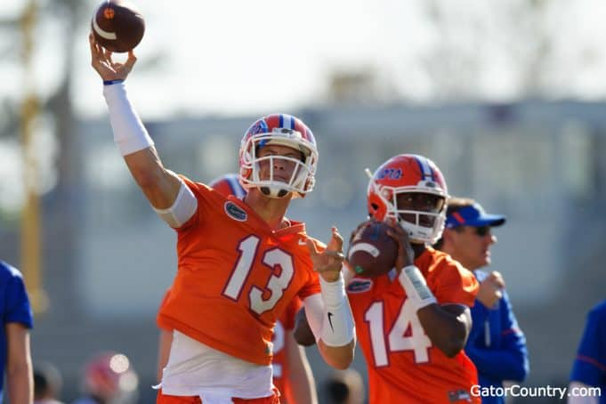 Florida Gators quarterbacks Emory Jones and Feleipe Franks- 1280x853