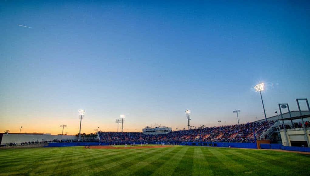 The view of McKethan Stadium from the outfield bleachers- Florida Gators baseball- 1280x851
