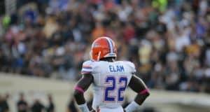 University of Florida junior Matt Elam on the field at Vanderbilt- Florida Gators photo - 1280x850