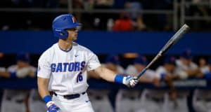 University of Florida outfielder Wil Dalton gets set in the box during an at bat against Siena- Florida Gators baseball- 1280x852