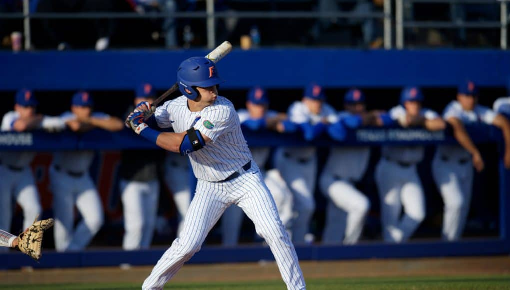 University of Florida outfielder Wil Dalton takes a swing in a win over the Florida State Seminoles- Florida Gators baseball- 1280x853