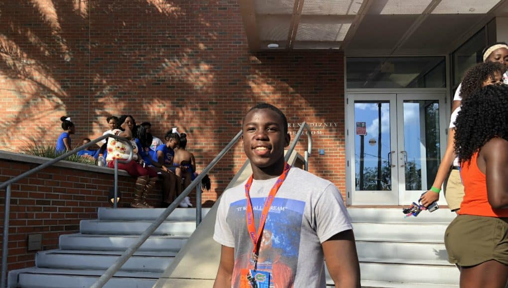 Florida Gators DB recruiting target Cortez Andrews at the Orange and Blue game-1280x960
