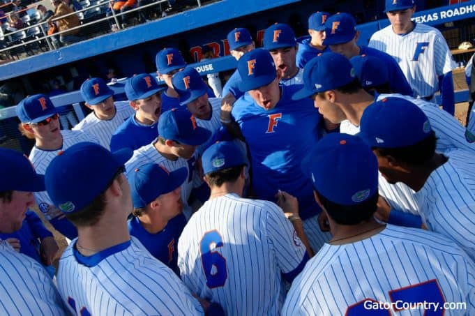 Florida Gators baseball before the Auburn game 2018- 1280x852