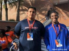 Florida Gators commits Ethan White and Keyvone Lee at the Orange and Blue game- 1280x960