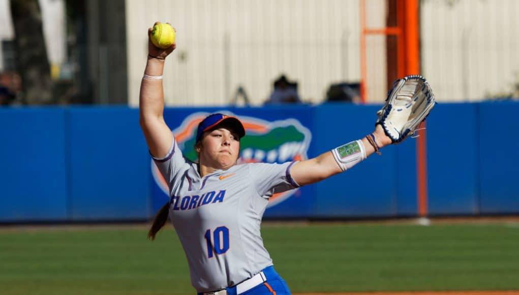 Florida Gators softball pitcher Natalie Lugo pitches in 2018- 1280x1280