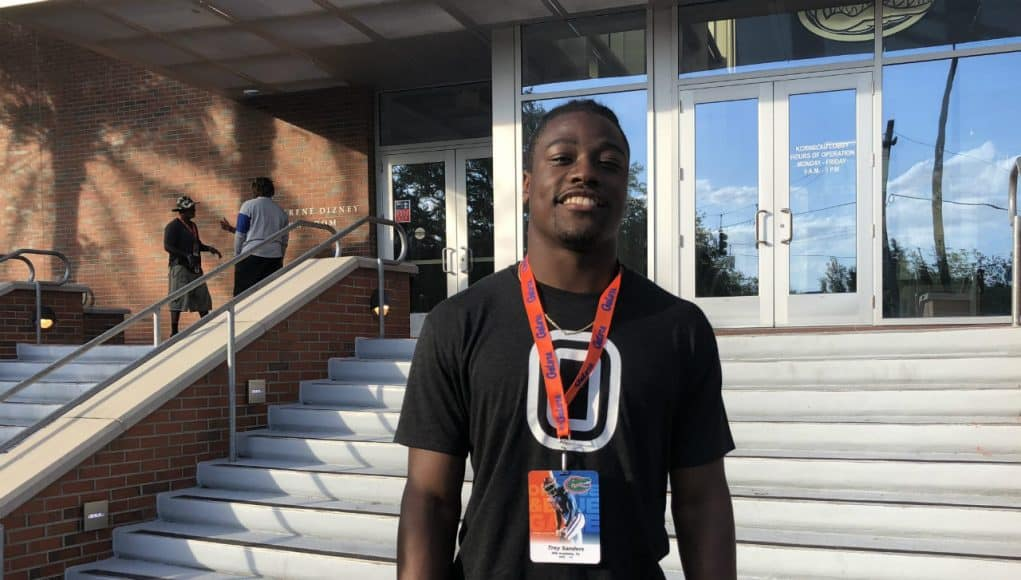 Running back Trey Sanders visiting the Florida Gators Orange and Blue game- 1280x960