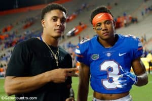 University of Florida freshman Marco Wilson and his brother Quincy Wilson after the Florida Gators win over UAB- Florida Gators football- 1280x852