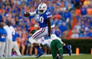 University of Florida tight end C'yontai Lewis runs after a catch in the Florida Gators win over the UAB Blazers- Florida Gators football- 1280x853
