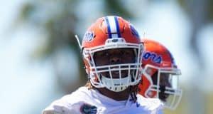 University of Florida transfer defensive lineman Marlon Dunlap at the Florida Gators first spring practice- Florida Gators football- 1280x1036