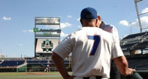 University of Florida manager Kevin O'Sullivan at TD Ameritrade Park in Omaha, Nebraska before the Florida Gators first game of the 2017 College World Series- Florida Gators baseball- 1280x850