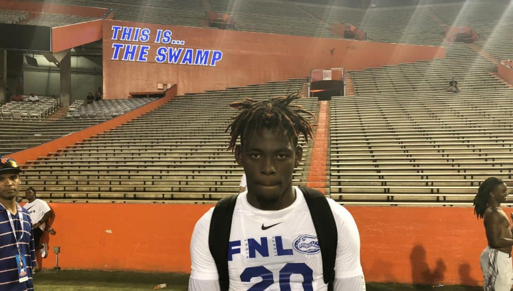 Forest High School athlete Diwun Black poses after working out at Friday Night Lights- Florida Gators recruiting- 1280x960