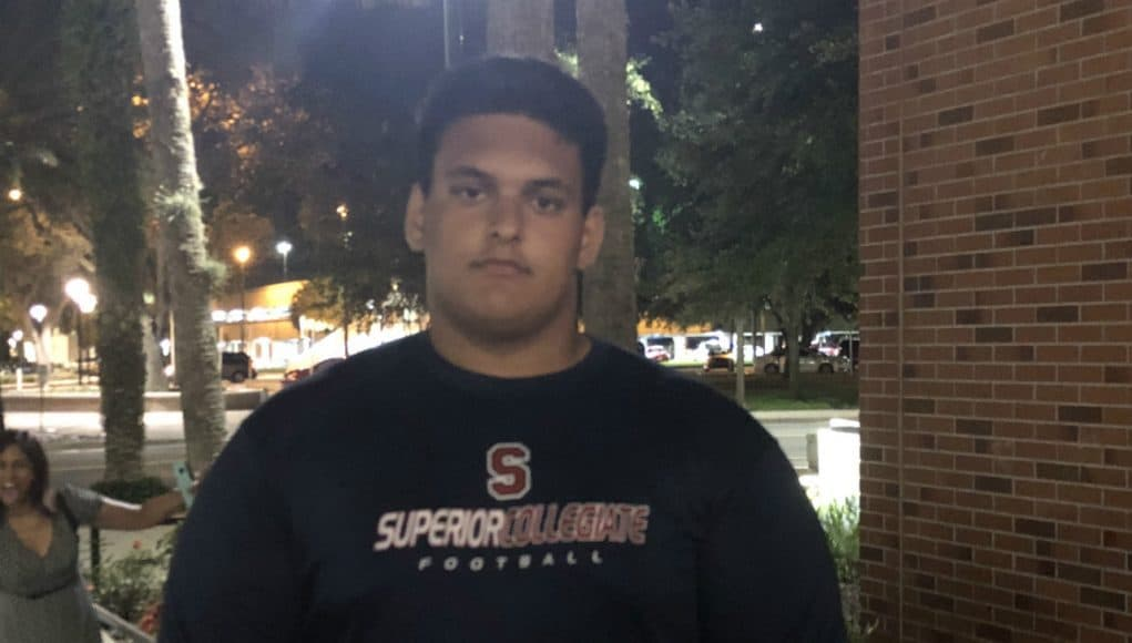 Florida Gators offensive line commit Ethan White at Friday Night Lights- 1280x960