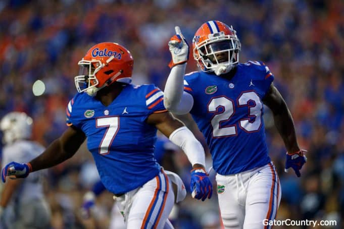Florida Gators DB Chauncey Gardner-Johnson and DE Jeremiah Moon- 1280x853