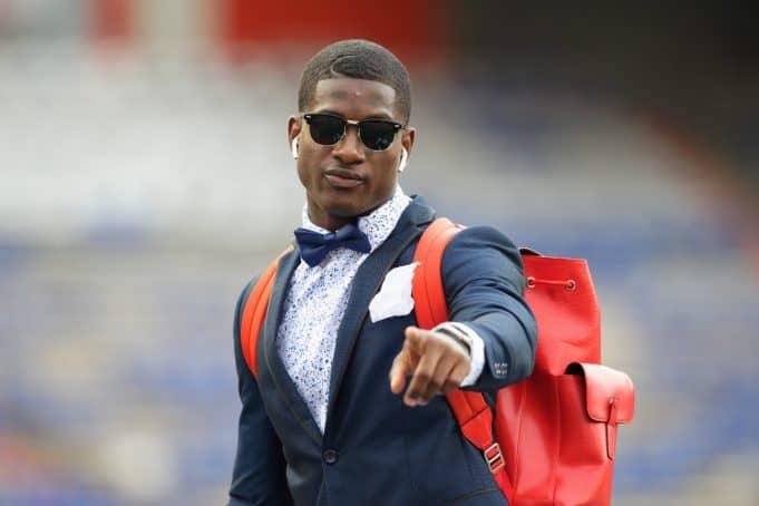 Florida Gators defensive back Trey Dean at Gator Walk before the Kentucky game- 1280x853