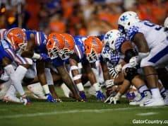 Florida Gators defensive line goes against Kentucky- 1280x853