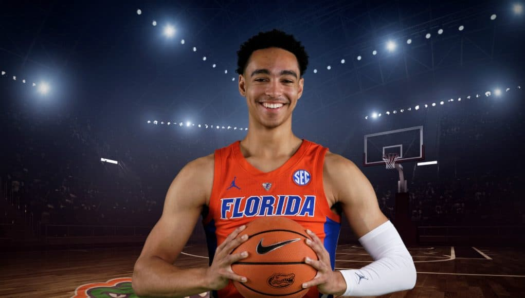 Florida Gators guard Andrew Nembhard at UF media day- 1280x853