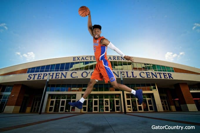 Florida Gators guard Jalen Hudson at Florida media day 2018- 1280x853