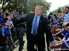 Florida Gators head coach Dan Mullen at Gator Walk- 1280x853