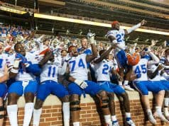 Florida Gators players celebrate the win over Tennessee- 1280x852
