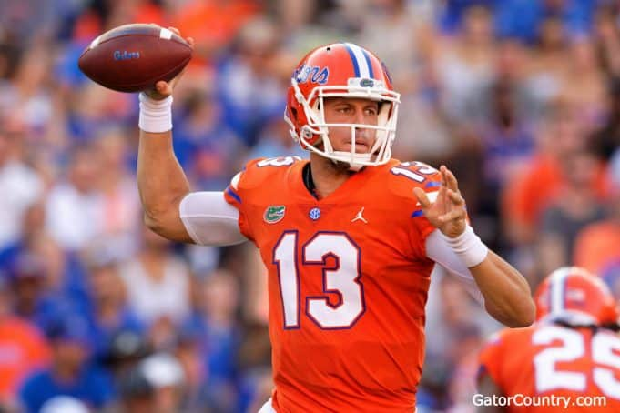 Florida Gators quarterback Feleipe Franks throws against Colorado State- 1280x853