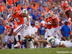 Florida Gators receiver Freddie Swain returns a punt for a touchdown- 1280x853