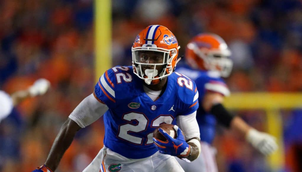 Florida Gators running back Lamical Perine runs against Kentucky- 1280x1280