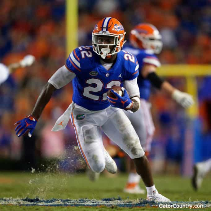 Florida Gators running back Lamical Perine runs against Kentucky- 1280x1280
