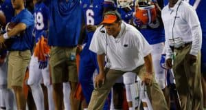 University of Florida defense coordinator Todd Grantham from the sideline during the Florida Gators win over Charleston Southern- Florida Gators football- 1280x853