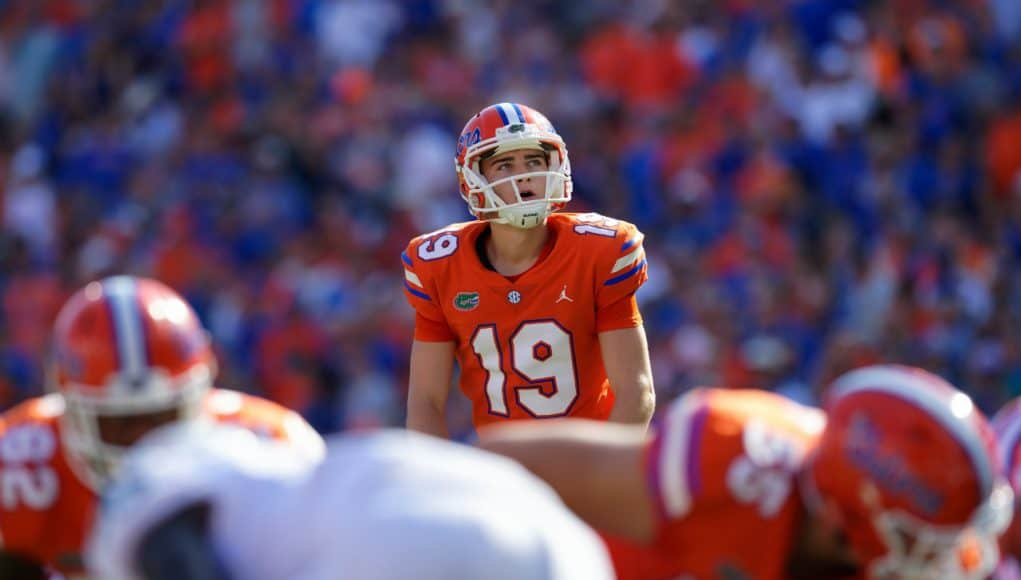 University of Florida kicker Evan McPherson lines up for a field goal in the first quarter of a win against Colorado State- Florida Gators football- 1280x853