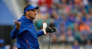 Florida Gators head coach Dan Mullen during the Georgia game- 1280x854