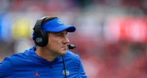 Florida Gators head coach Dan Mullen looks on during the Georgia game-1280x853