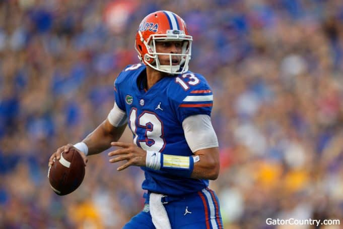 Florida Gators quarterback Feleipe Franks against LSU in 2018-1280x853