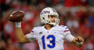 Florida Gators quarterback Feleipe Franks throws against Georgia-1280x853