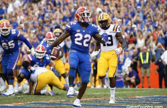 Florida Gators running back Lamical Perine scores against LSU in 2018- 1280x853