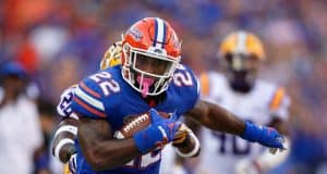 University of Florida running back Lamical Perine carries the ball in a win over LSU- Florida Gators football- 1280x853