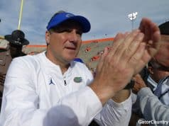 Florida Gators head coach Dan Mullen after the win over South Carolina- 1280x852