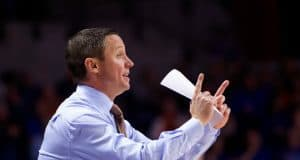 Florida Gators head coach Mike White coaches against Charleston Southern in 2018-19- 1280x853